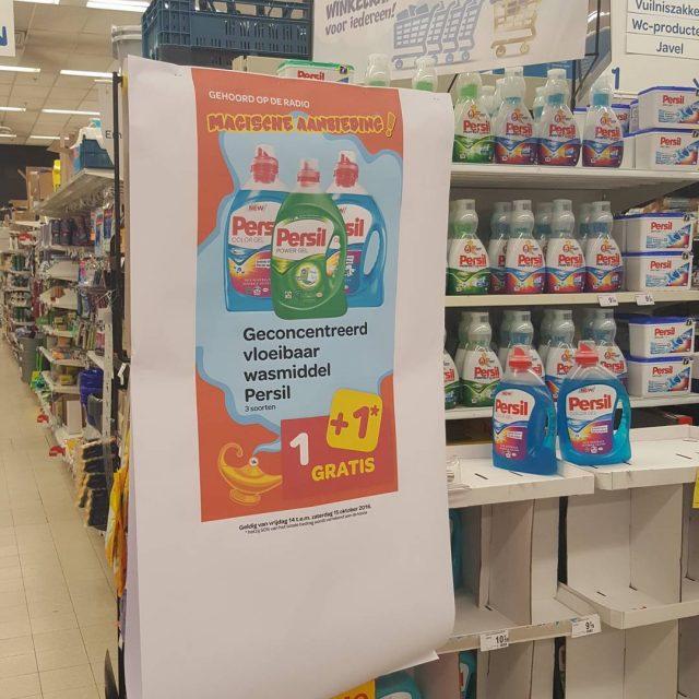 Carrefour geconcentreerd vloeibaar wasmiddel Persil 11 gratis actie in Carrefourhellip