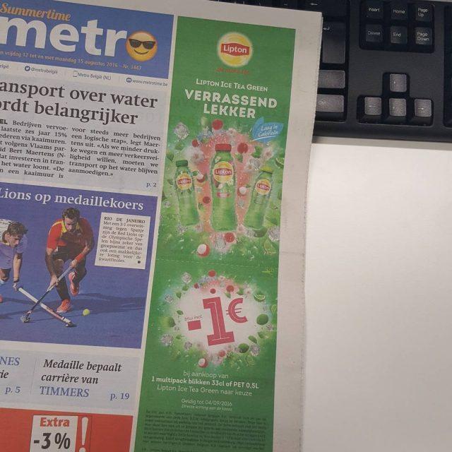 Vandaag in Metrobelgi  Dit gratis krantje vind je noghellip